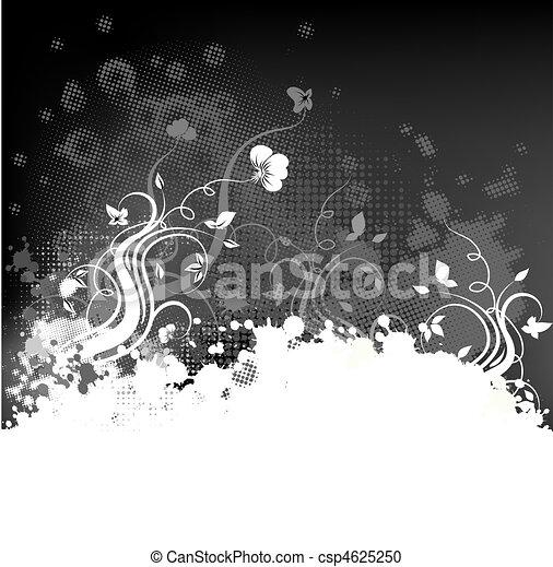Grunge-Foral-Hintergrund - csp4625250