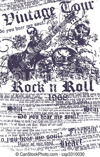 Grungy-Gitarre-Hintergrund - csp3310030