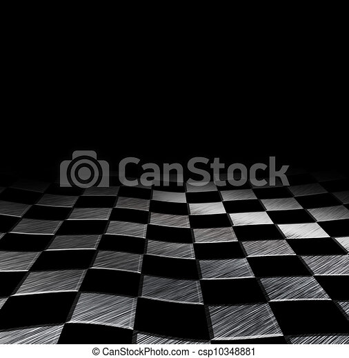 Grungy Schachbrett Hintergrund - csp10348881