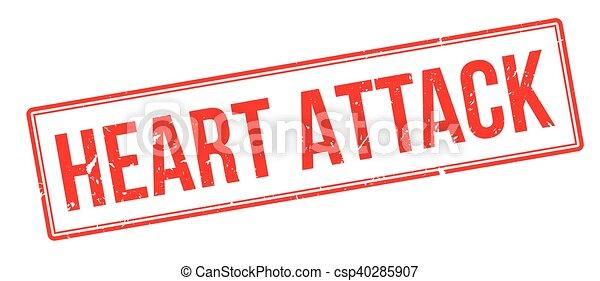 Herzinfarkt, Gummistempel - csp40285907