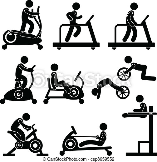 Gymnasium- Fitnessübung - csp8659552