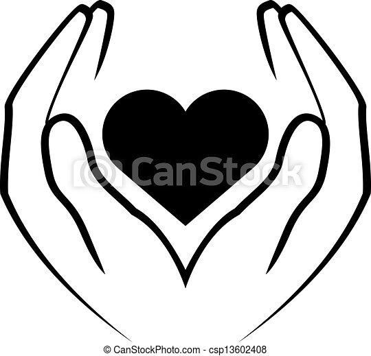 Hände halten Herz - csp13602408
