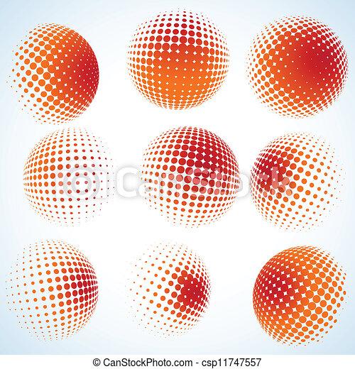 Halbtone-Kreise-Design deaktivieren. EPS 8 - csp11747557