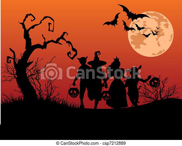 Halloween-Hintergrund - csp7212889