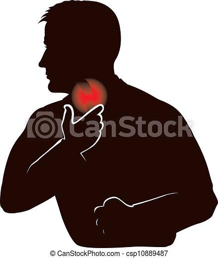 Halsschmerzen. - csp10889487