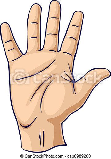 Hand erhoben in einer offenen Hand - csp6989200