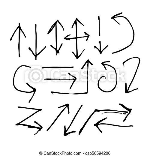 Hand gezeichnetes Pfeilsymbol. - csp56594206