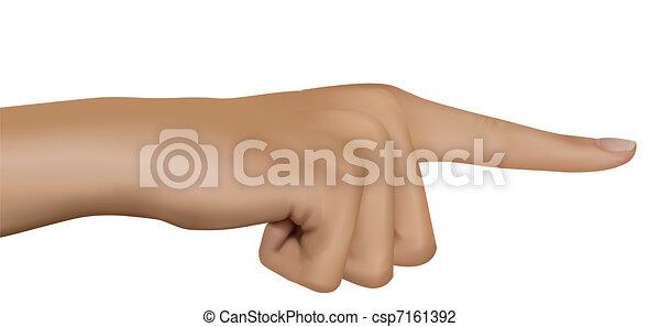 Hand mit dem Zeigefinger. Vector. - csp7161392