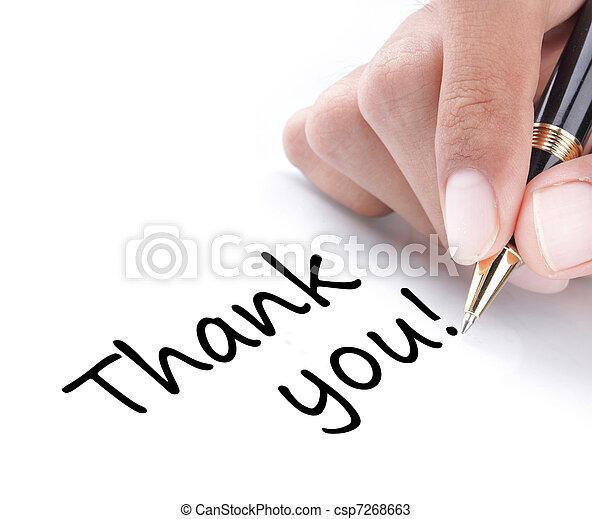 Handgeschrieben, danke - csp7268663