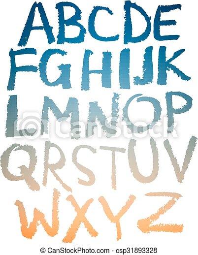 Handgeschriebenes Alphabet. - csp31893328