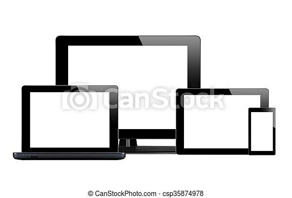 Tablet PC, Handy und Computer - csp35874978