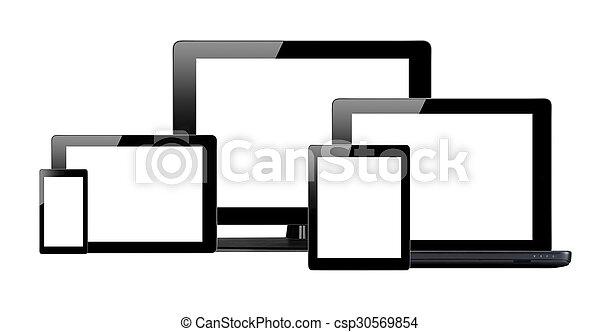Tablet PC, Handy und Computer - csp30569854