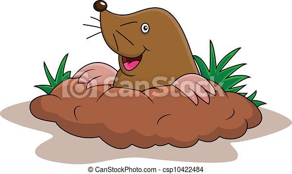 Happy mole Cartoon. - csp10422484