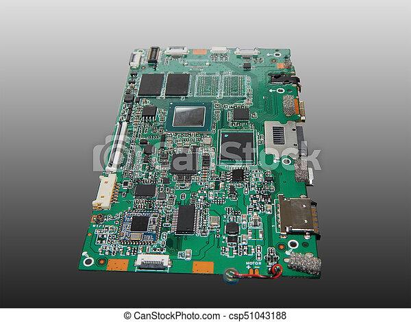hauptplatine, tablette, computer. - csp51043188