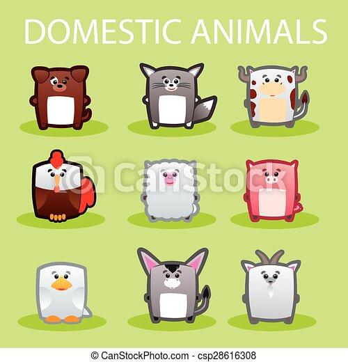Häusliche Tiere - csp28616308