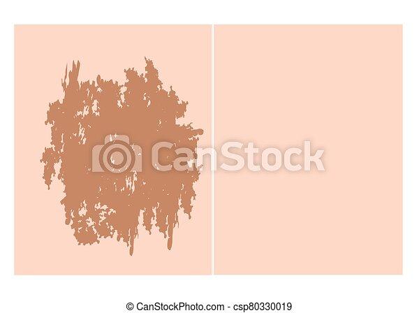 haut, fleck, face., pigmentation, pigmentiert, nach, hintergrund., treatment., abbildung, vektor, vorher - csp80330019