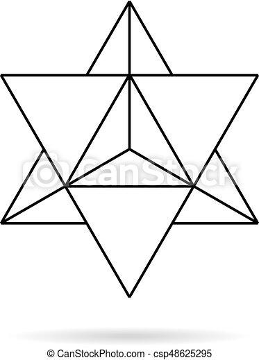 Heilige Geometrie. Merkaba dünne Linie geometrische - csp48625295