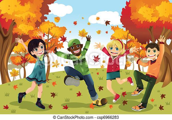 Herbst-Kinder - csp6966283