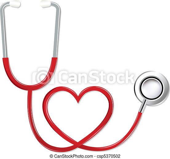 Stethoskop in Herzform - csp5370502