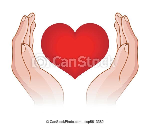 Herz in Händen - csp5613382