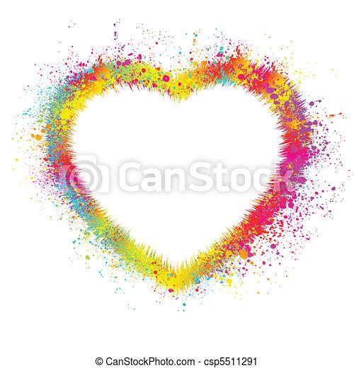 Herz mit grauem Hintergrund. EPS 8 - csp5511291