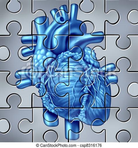 menschliches Herz-Wunder - csp8316176