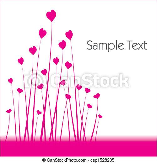 Herzförmiger Blumen Hintergrund - csp1528205