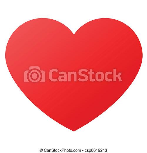 Herzform für Liebessymbol - csp8619243