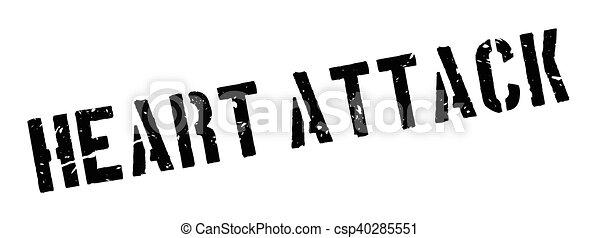 Herzinfarkt, Gummistempel - csp40285551