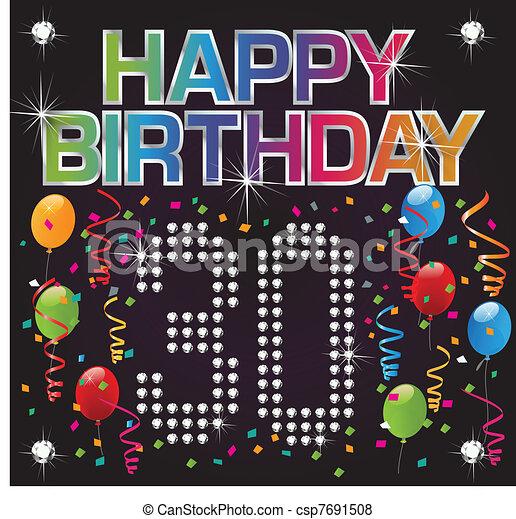 Herzlichen Glückwunsch zum 30. Geburtstag. - csp7691508