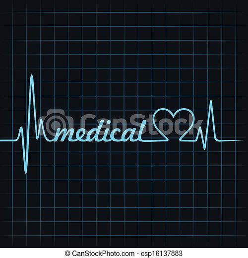 herzschlag, machen, medizin, text - csp16137883