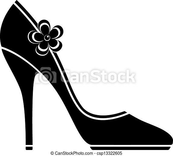 High-Heel-Schuhe (Silhouette) - csp13322605