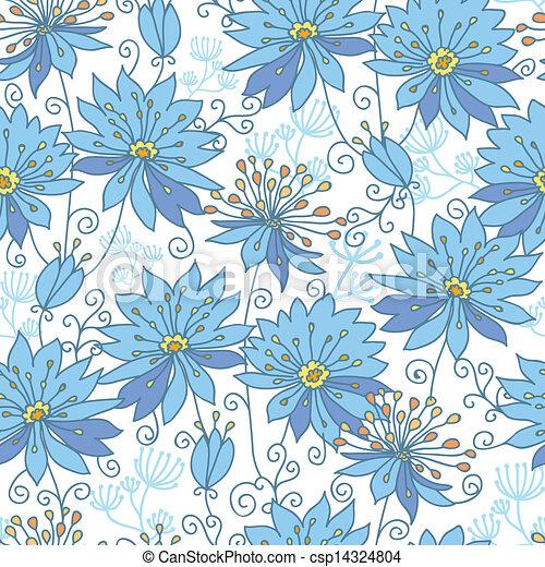 Himmlische Blumen, nahtloser Hintergrund - csp14324804