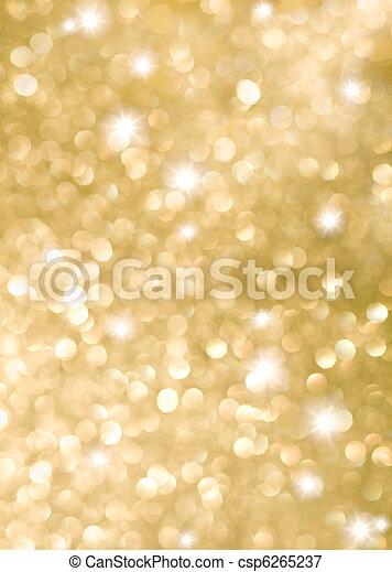 Hintergrund der goldenen Urlaubslichter abbrechen - csp6265237