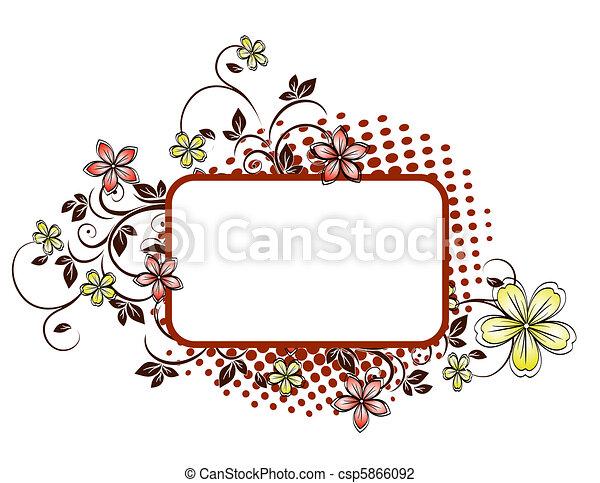Floral Grunge Hintergrund - csp5866092
