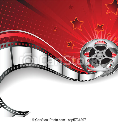 Hintergrund mit Kinomotiven - csp5731307