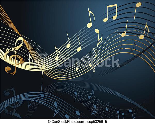 Hintergrund mit Musiknotizen - csp5325915