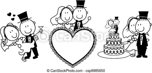 Hochzeitseinladung - csp9985650