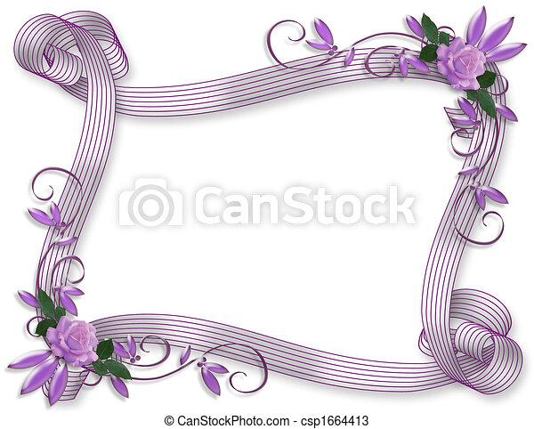 Hochzeitseinladungen von Lavendelrosen - csp1664413