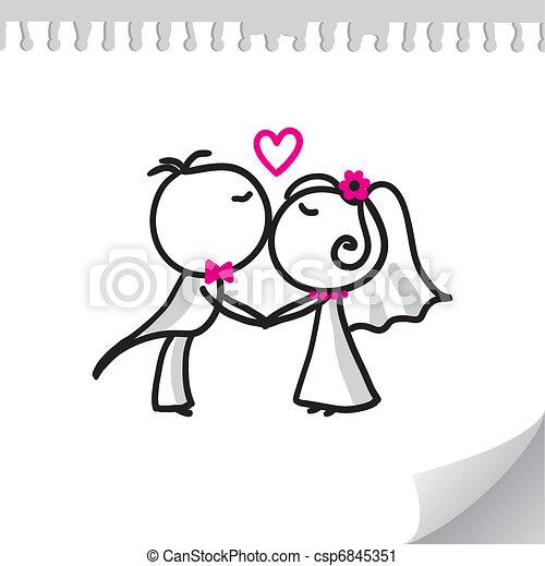 Hochzeitspaar - csp6845351