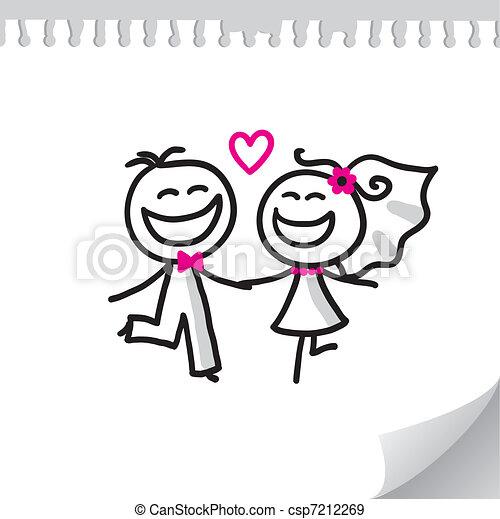 Hochzeitspaar - csp7212269