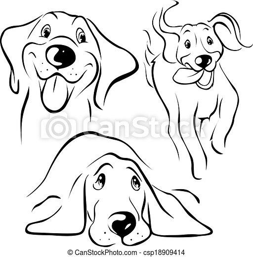 hund, abbildung - csp18909414