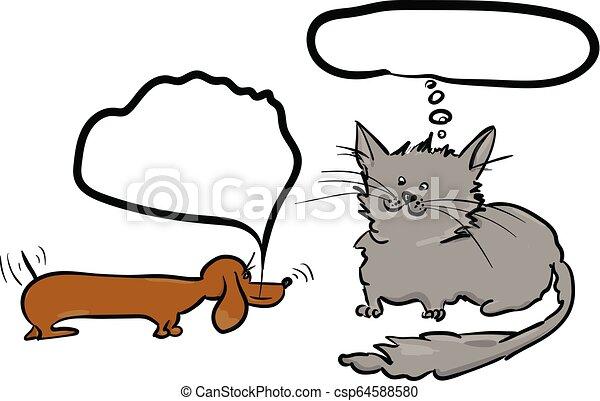 Hund und Katze - csp64588580