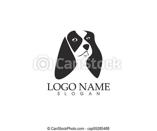 Hundekopf-Logo. - csp55285488