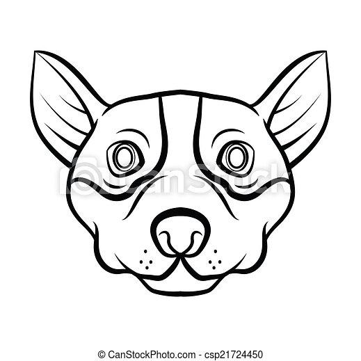 Hundekopf-Vektorgrafik. - csp21724450