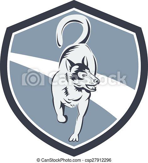 Husky Hunde-Retro. - csp27912296