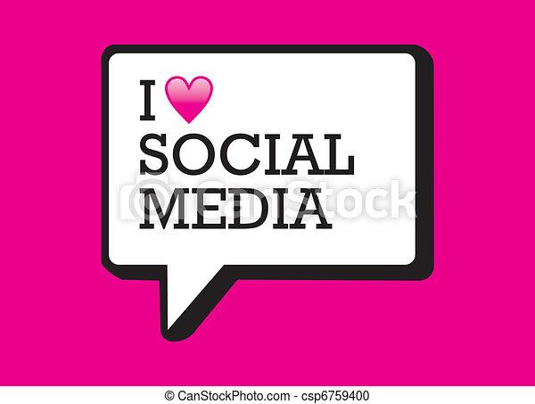 Ich liebe soziale Medien - csp6759400