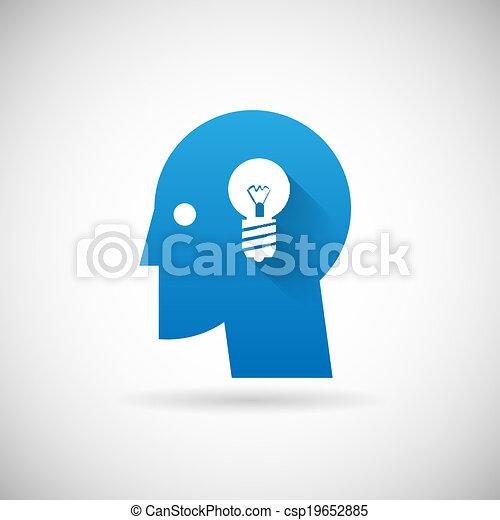 Idea Symbol Business Kreativität Idea Symbol Design Vorlage Vektor Illustration. - csp19652885