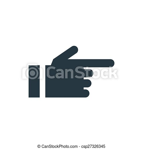ikone, pfeil, hand - csp27326345