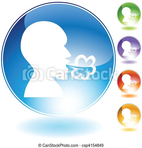 Illness Kristall Icon Set. - csp4154849